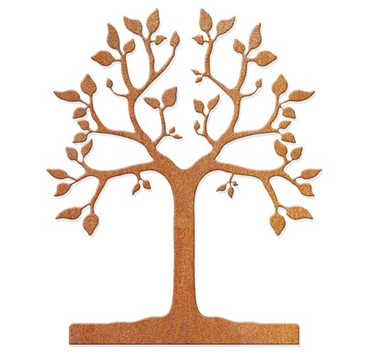 Baum groß mit Blättern