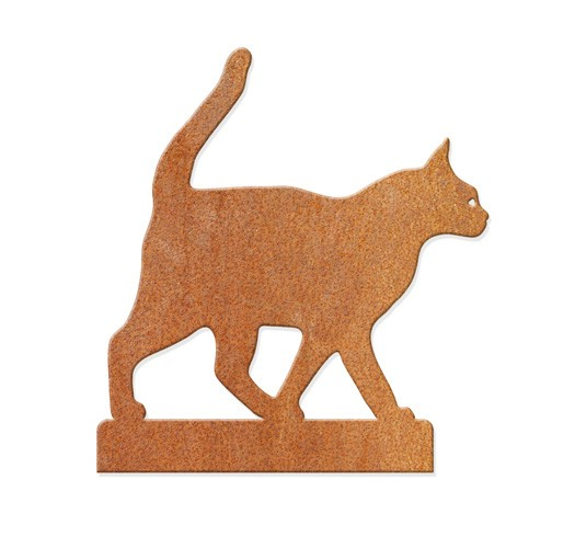 GreenSculpture Katze - laufend