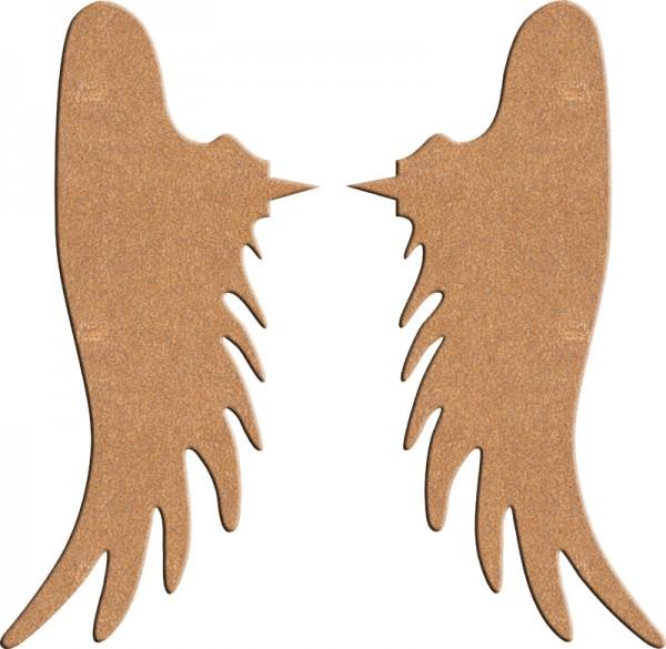 Baumengelflügel - 2-teilig (nach Anrostung) mit Einschlagdorn
