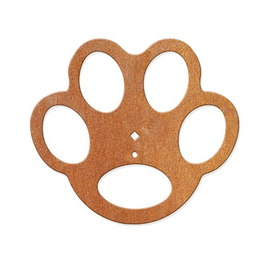 Hundepfote als Schrittplatte