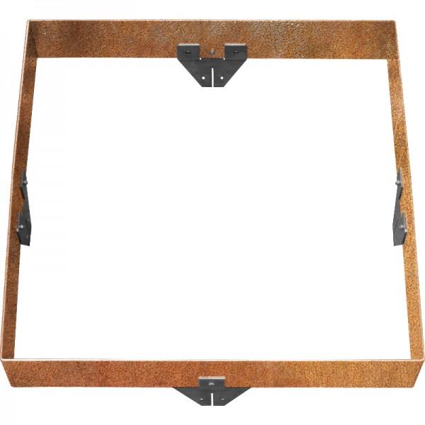 GreenLiner Stahl-Quadrat 150/4CT-100/100